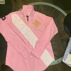 POLO Ruby Ralph Lauren Custom Fit Oxford Shirt Sz4
